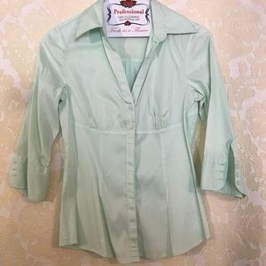 Button down shirt - mint pastel color